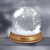 Empty Snowglobe — Stock Vector