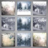 Snowflake Forsty Backgrounds — Stok Vektör