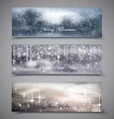 Christmas, new year banners — Stock Vector