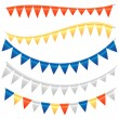 Colorful Bunting and Garland Set — Stock Vector #51156887