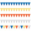 Colorful Bunting and Garland Set — Stock Vector #51156889