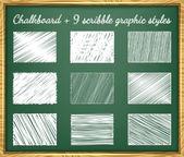 Scribble Graphic Styles — Vector de stock