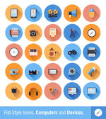 Flat Circle Icons — Stock Vector