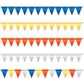 Colorido conjunto del empavesado y garland — Vector de stock