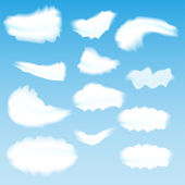 Clouds on blue sky — Stock Vector