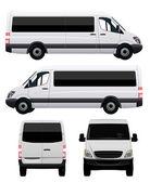 Passenger Van - Minibus — Stock Vector