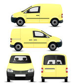 Yellow Van — Stock Vector