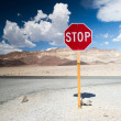 Stock Photo: Stop in death valley