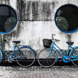 Two blue bikes — Foto Stock