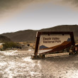 Royalty-Free Stock Photo: Rain in the death valley