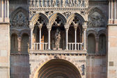 Particular of the cathedral of Ferrara — Stock Photo
