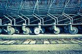 Shopping trolleys — Zdjęcie stockowe