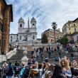 Piazza di spagna in rome - Stock Photo
