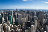 Aereal view of new york city — Stock Photo