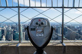 Telescope to observe the city — Stock Photo