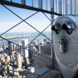 Stock Photo: Binoculars to observe city