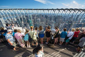 People on the empire state building — Stock Photo
