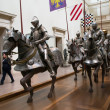 Stock Photo: Knights at museum