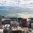 Lake michigan panorama from chicago tower — Stock Photo