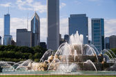 Buckingham fountain in chicago — Stock Photo