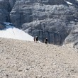Stock Photo: Trekking on dolomites