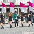 Stock Photo: Girls with flags
