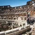People inside coliseum — Stock Photo #46266331