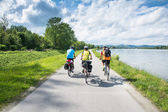 Group of bicyclists — Stock Photo