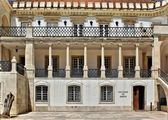 Facade of main square of university of Coimbra — Stock Photo