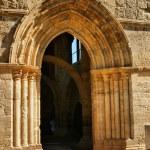 Entrance of Santa Clara Velha in Coimbra — Stock Photo #12041379