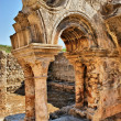 Cloister ruins of Santa Clara Velha in Coimbra - Stock Photo