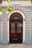 Architectural door detail of thermal Pedras Salgadas — Stock Photo