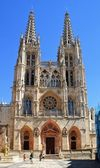 Facade of Santa Maria Cathedral of Burgos — Stock Photo