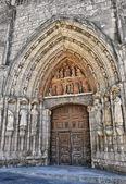 Old Door of Burgos Cathedral — Stock Photo