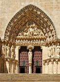 The Sarmental Door of Burgos Cathedral — Stock Photo