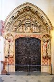 Cloister door of Burgos cathedral — Stock Photo