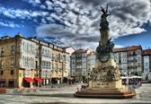 Virgen Blanca square in Vitoria-Gasteiz — Stock Photo