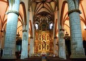 Inside of San Miguel church in Vitoria-Gasteiz — Stock Photo