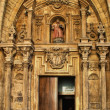 Door of Saint Vicent church in San Sebastian - Stockfoto