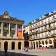 Constitucion Square in San Sebastian — Stock Photo