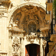 Doorway detail of basilica of Santa Maria del Coro — Stock Photo