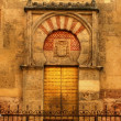 Door of the mosque in Cordoba — Stock Photo
