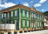 Green house in Vila Nova de Cerveira — Stock Photo