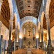 Inside gothic church in Caminha — Stock Photo