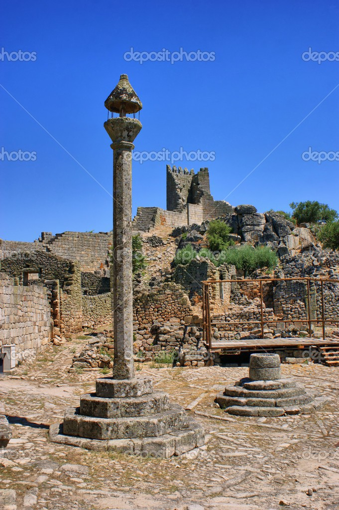 Marialva ruins and pillory in Meda, Portugal