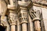 Door detail of Romanesque church (Fonte Arcada) — Stock Photo