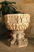 Baptismal font in Leca do Balio monastery — Stock Photo