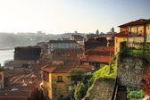Aerial view of Ribeira quarter in Porto — Stock Photo