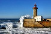Lighthouse of Felgueiras in the river Douro — Stock Photo