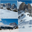 View of mountain with snow - Dolomites — Stock Photo